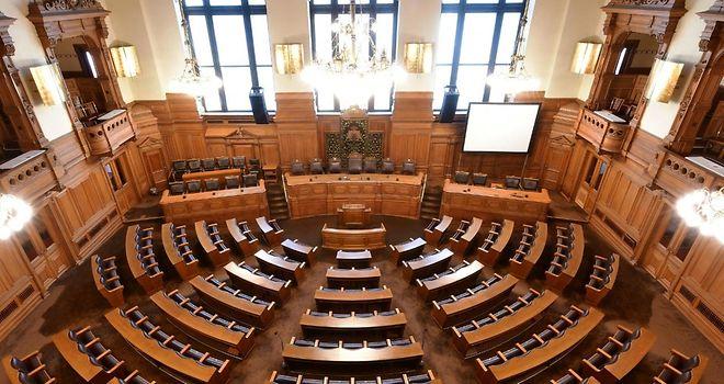Plenarsaal der Hamburgischen Bürgerschaft